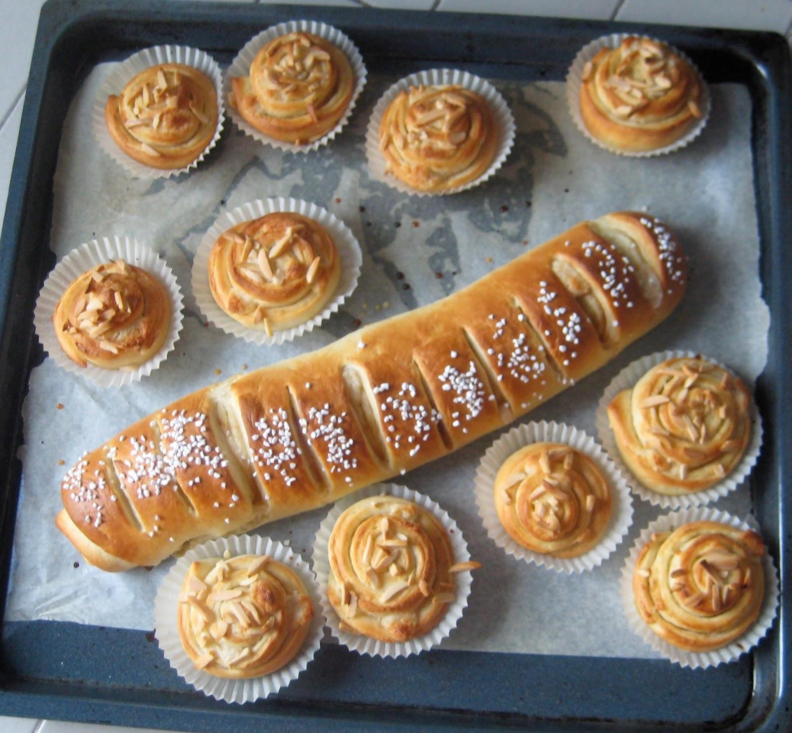 Kanelbullar and kanellängder (cinnamon buns and rolls)