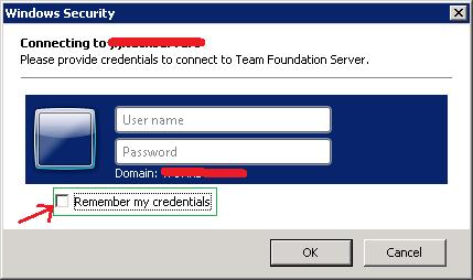Revert TFS credentials in Visual Studio