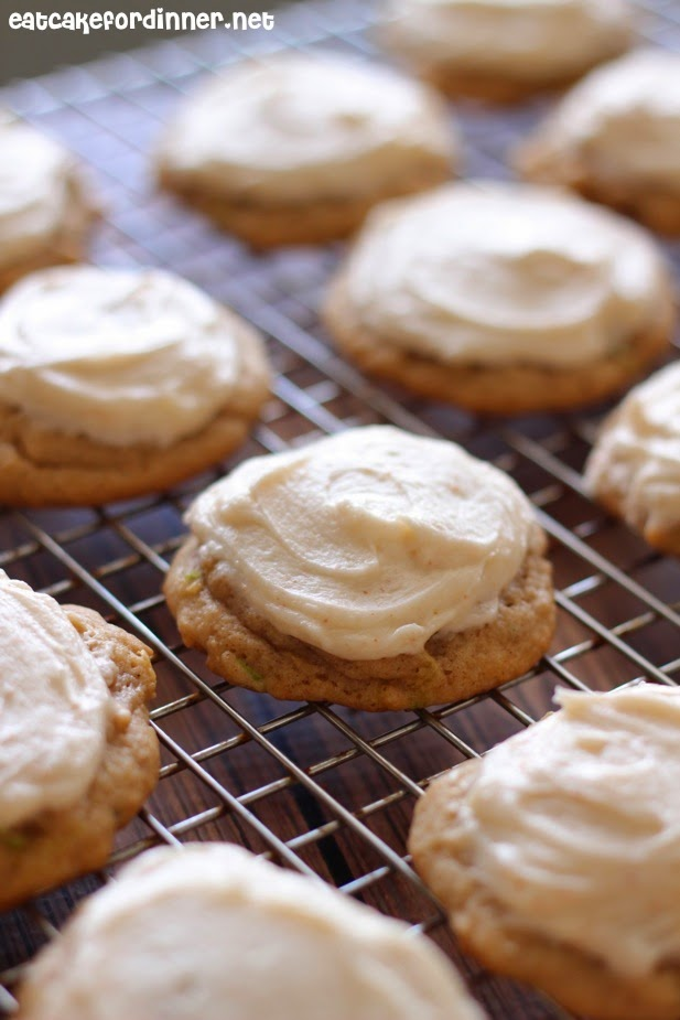 Softest Zucchini Cookies with Browned Butter Frosting