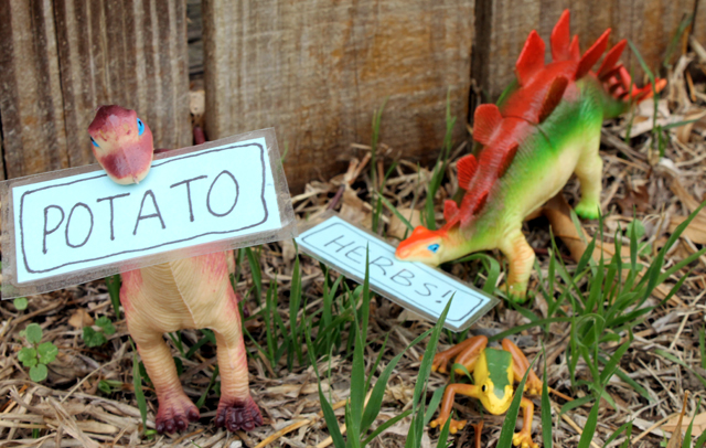 punk projects Dinosaur Plant Markers DIY