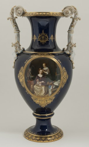 Art And Architecture Mainly Meissen Vases With Superb Landscape