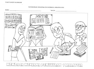 Dapatkan borang penyertaan peraduan mewarna di Pusat Sumber SK Bangsar ...