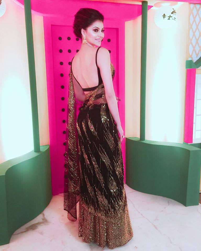 sexy backless saree