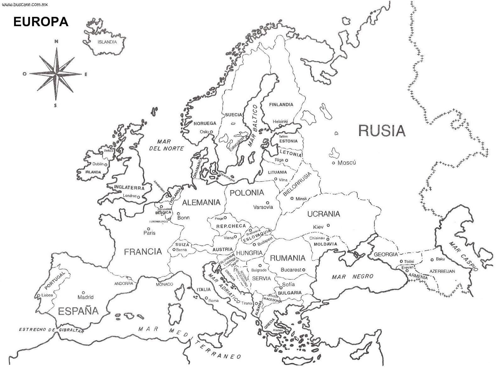Mapa Europa Con Nombres
