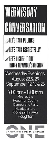 Wednesday conversations on politics continue