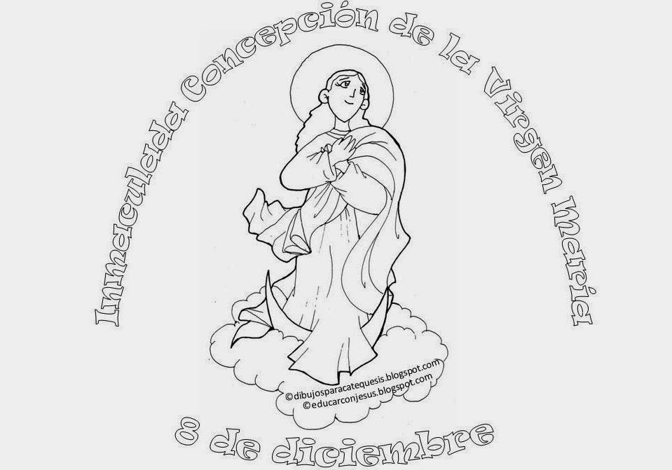 Excepcional Pagina Para Colorear De Inmaculada Concepcion Ornamento ...