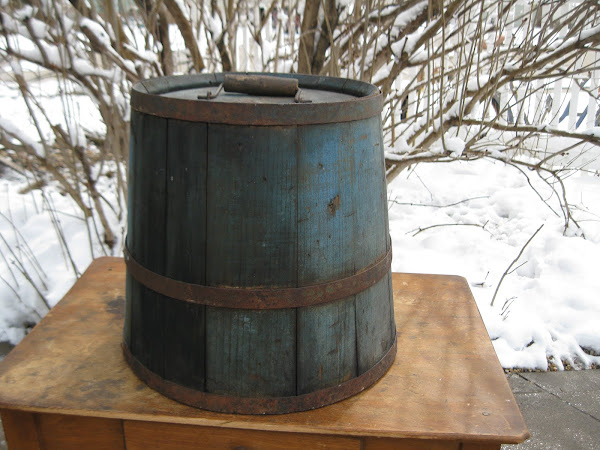 Early Bucket in Original Milk Paint