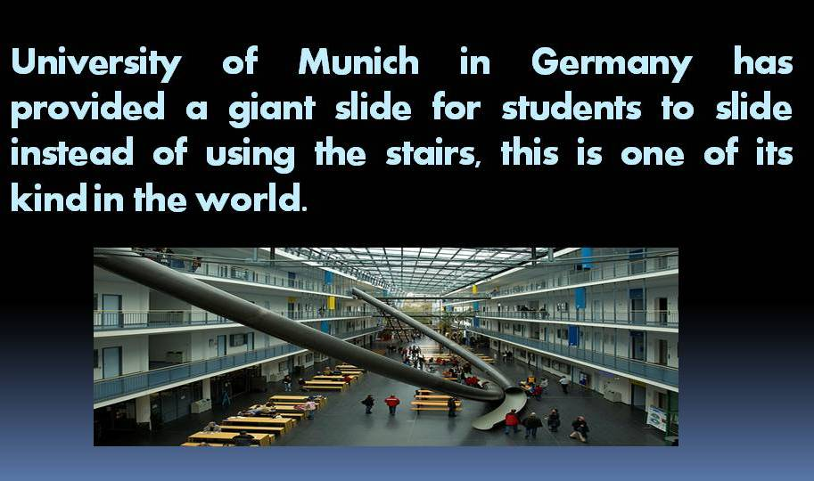 Giant Slide In University Of Munich World Of Interesting Facts And Useful Tips