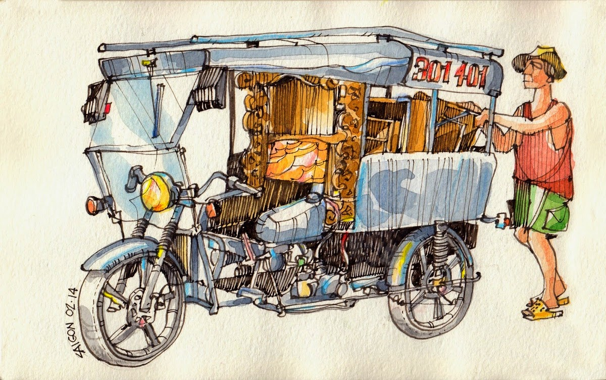 08-Vietnamese-Scooters-Jorge-Royan-Drawings-Sketches-of-Travel-Logs-www-designstack-co