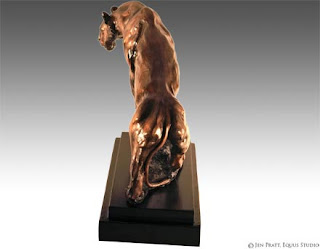 wildlife sculpture, cougar statue, wildlife art