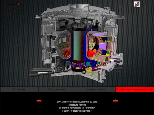 Découpe du futur tokamak ITER