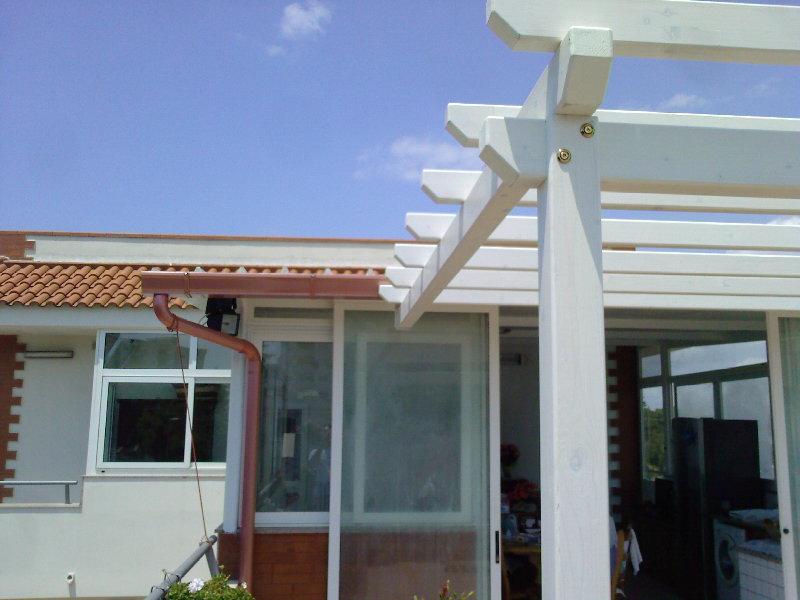 Fai da te hobby legno tettoia - Pilastro portante ...