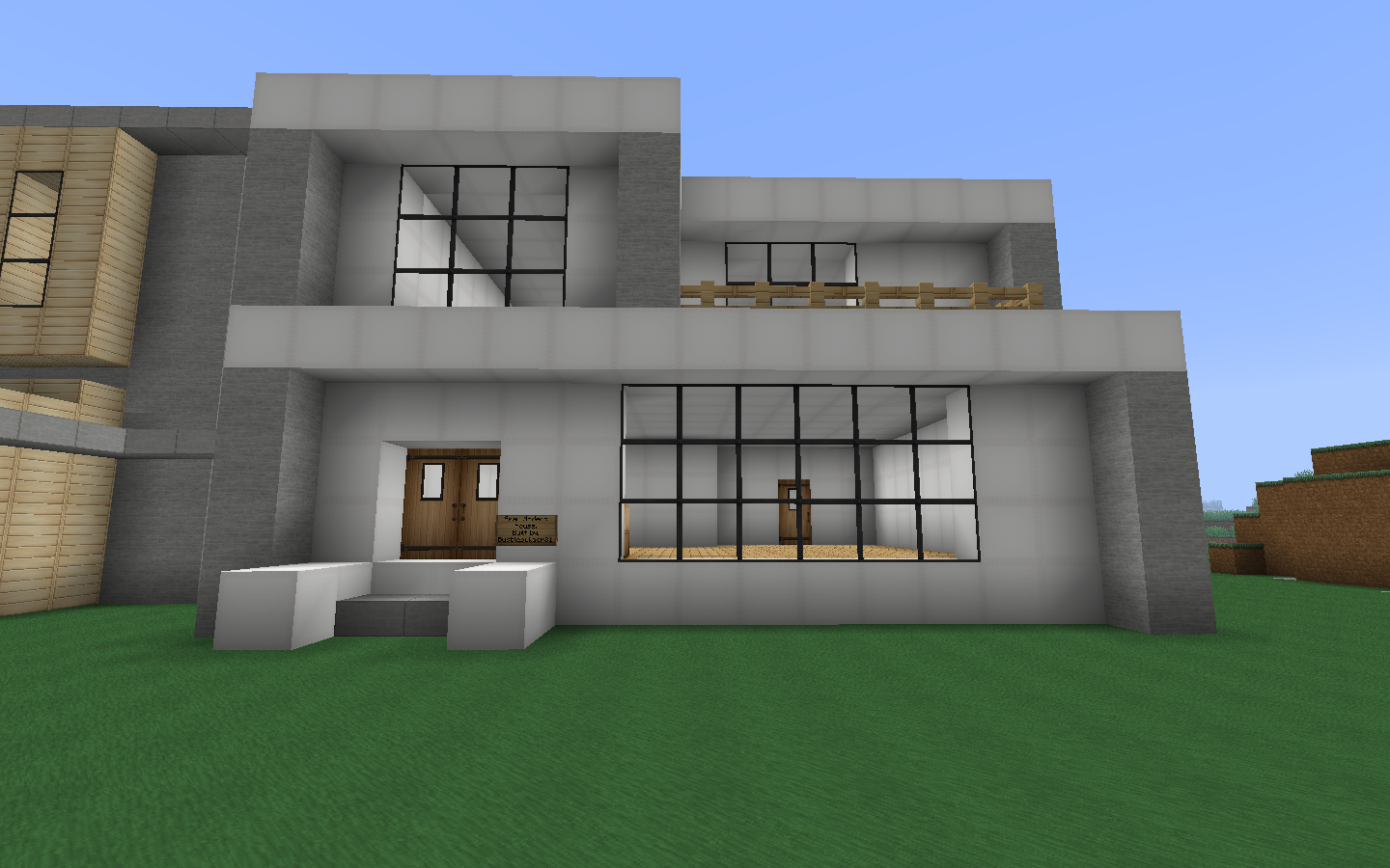 The gallery for nice modern house minecraft for Minecraft modern house 9minecraft