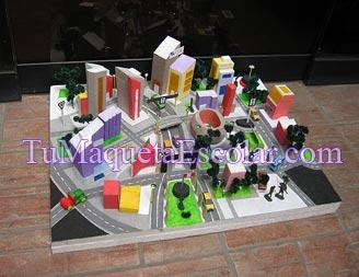 Maqueta de la Ciudad de Lima vision moderna y colorida