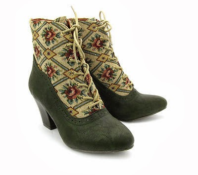 granny style boots