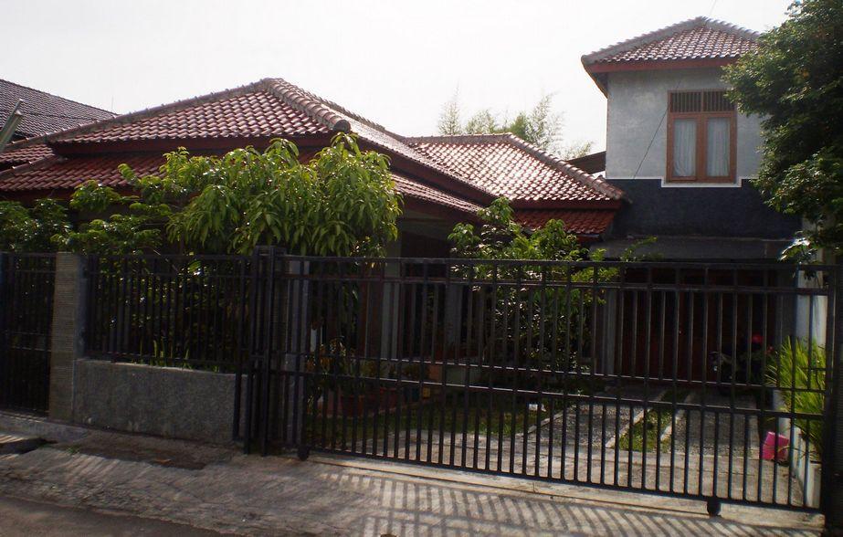 layout rumah dengan halaman luas asri