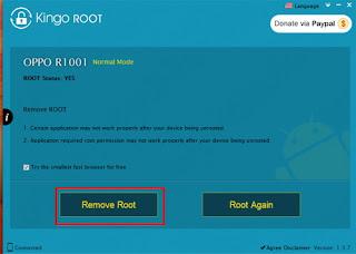Unroot Android dengan Kingo ROOT