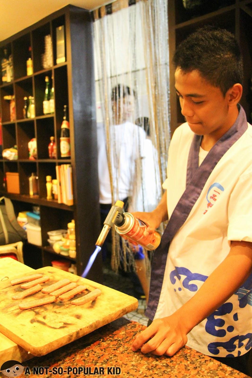 Torching the Spam Sushi in Genji-M