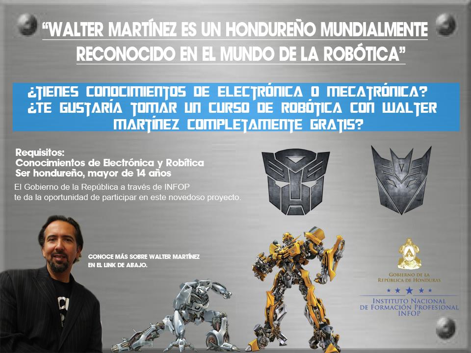 Jóvenes hondureños podrán capacitarse en el área de la robótica
