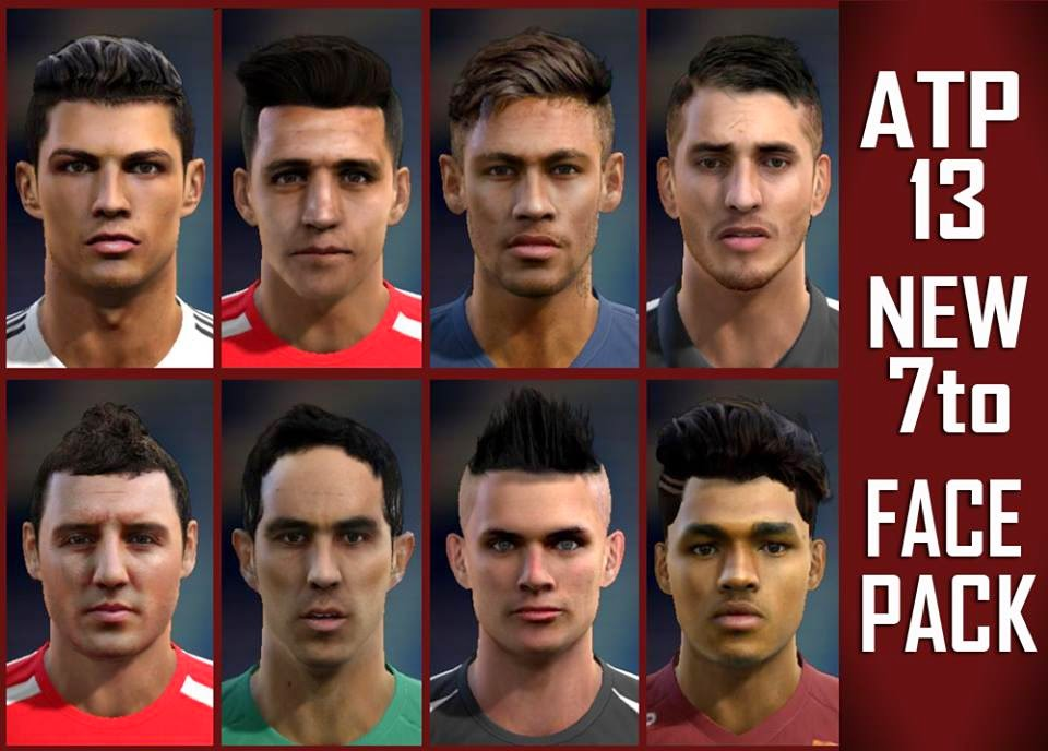 PESMODIF PES New To Facepack By BM - New face hair cristiano ronaldo pes 2013