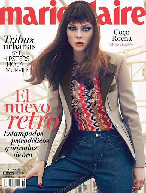 Supermodel @ Coco Rocha for Marie Claire Mexico, August 2015
