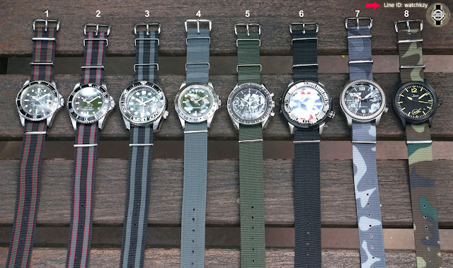 Sport watches with nato straps