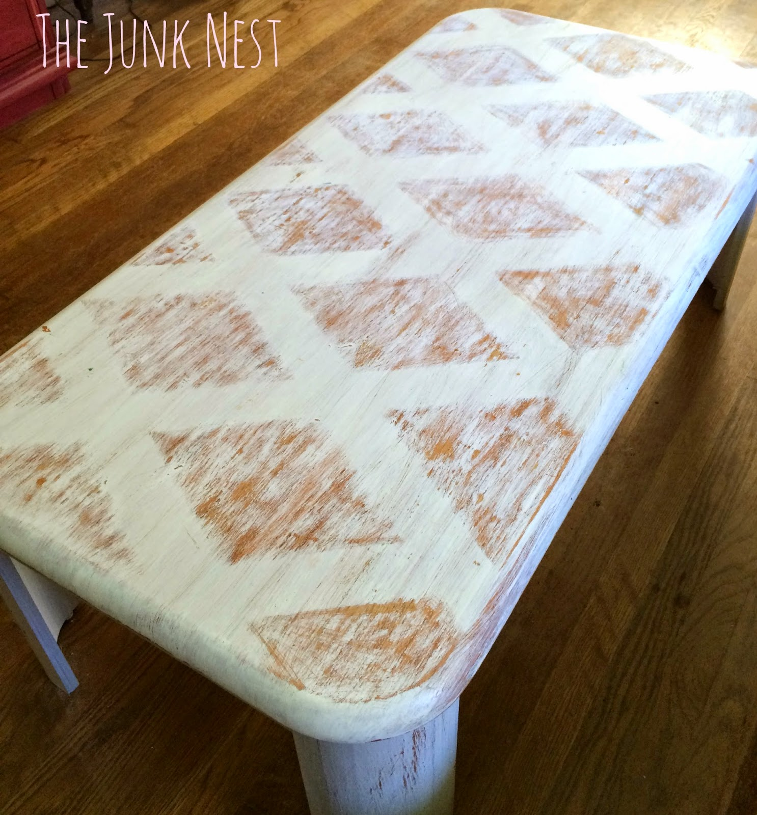The Junk Nest DIY Painted Coffee Table