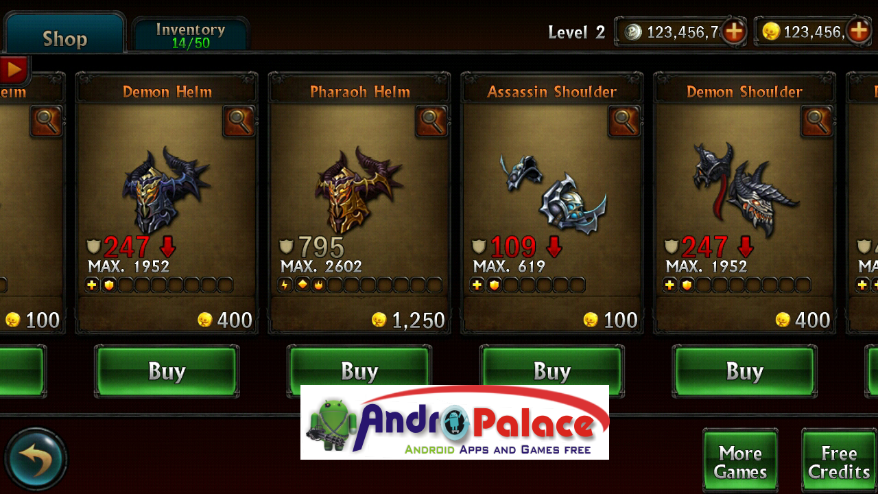 Armv6 Eternity Warriors 2 2 1 0 APK Including Unlimited Glu Coins