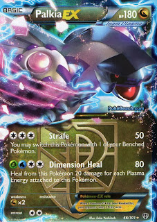 Palkia EX Full Art Plasma Blast Pokemon Card