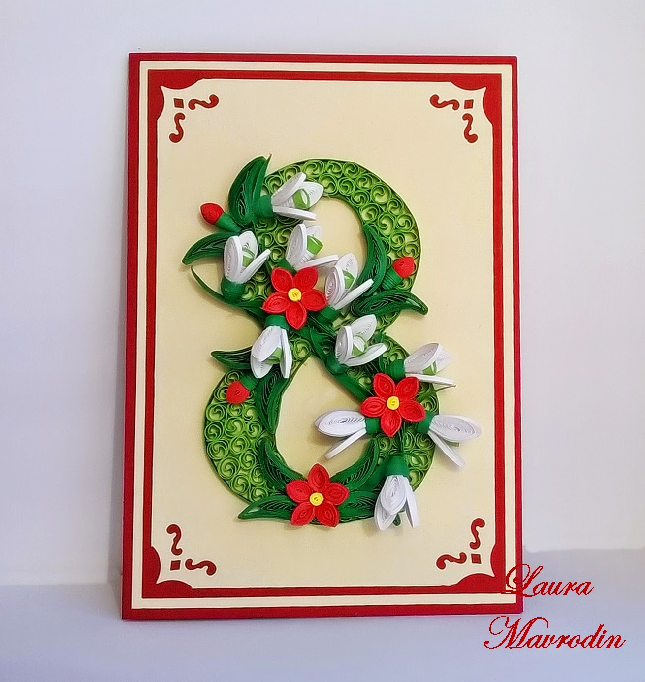 quilling my passion: Felicitare 8 Martie/8 March card