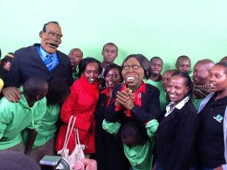 Hon. Martha Karua Visits the Puppets Set