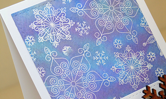 Embossed Snowflake card by Lydia Brooke for Newton's Nook Designs | Beautiful Blizzard Stamp Set