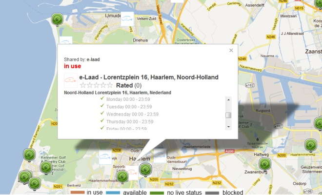 Map showing occupied charing in Holland