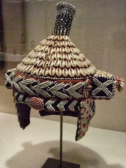 Cowrie shells headdress of the Kuba people of Kongo