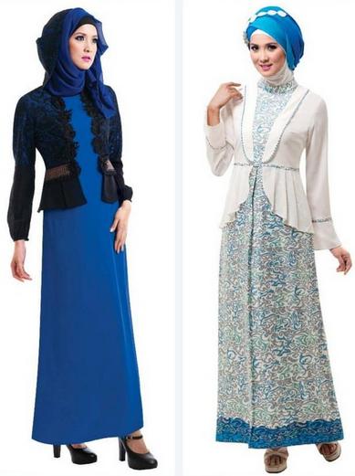 Model Baju Muslim Gamis Brokat