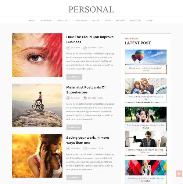 Personal blog and CV website theme