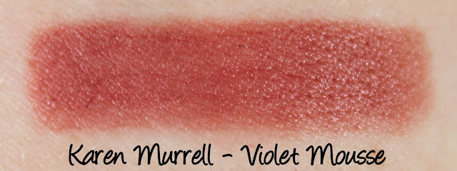 Karen Murrell - Violet Mousse Lipstick Swatches & Review