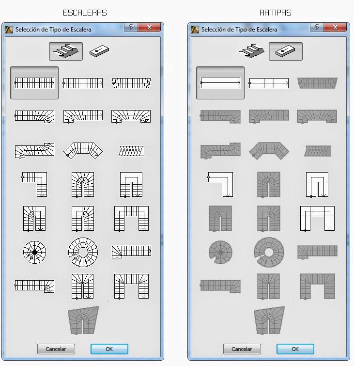 C mo crear y editar escaleras en archicad archicad 22 for Formas de escaleras