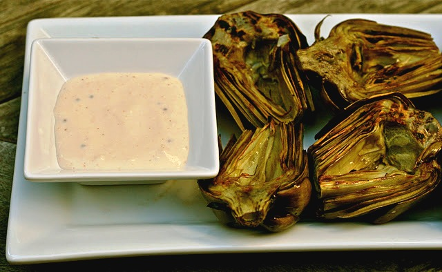 is for: Lemon Garlic Aioli with Grilled Artichokes, a Tailgate ...