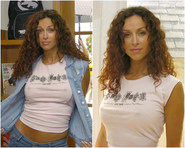 Celebrity fashion: Who what wear T-Shirt. Sofia Milos ...