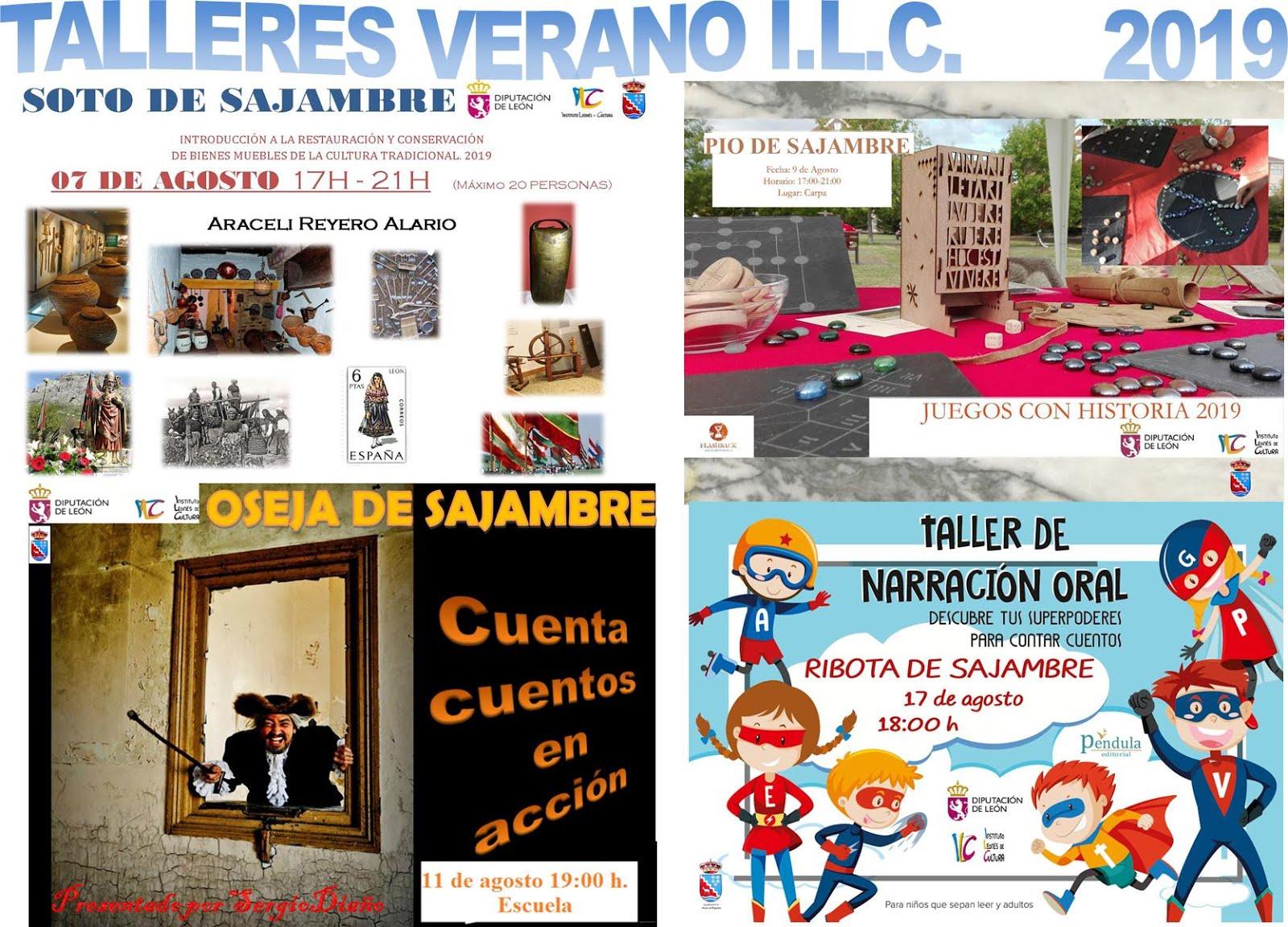 Talleres Verano 2019 Instituto Leones de Cultura