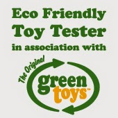 Eco friendly toy tester badge