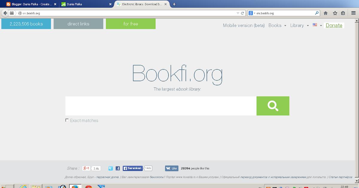 Situs Buku Gratis En Bookfi Org Dunia Fisika