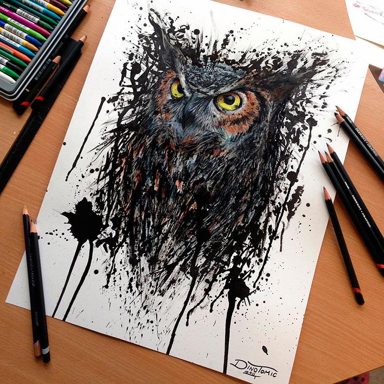 Detallados y realistas dibujos a lápiz por Dino Tomic