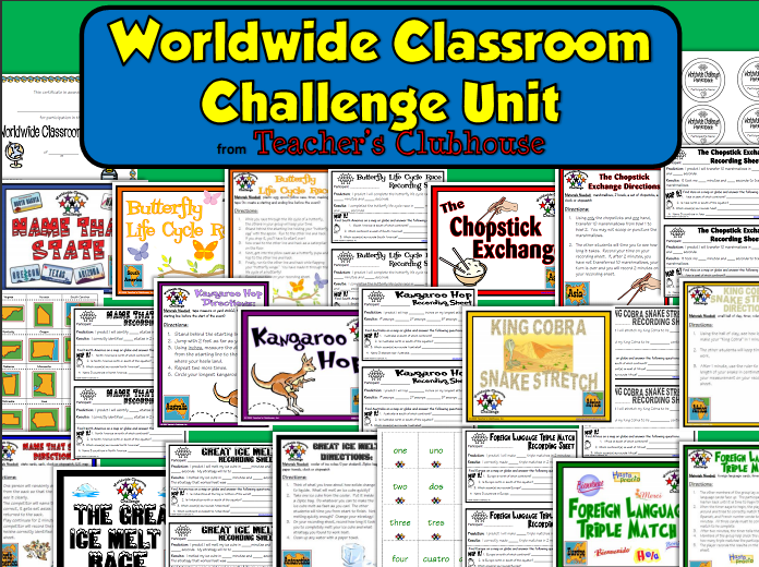 http://www.teacherspayteachers.com/Product/Worldwide-Classroom-Challenge-Unit-from-Teachers-Clubhouse-475880