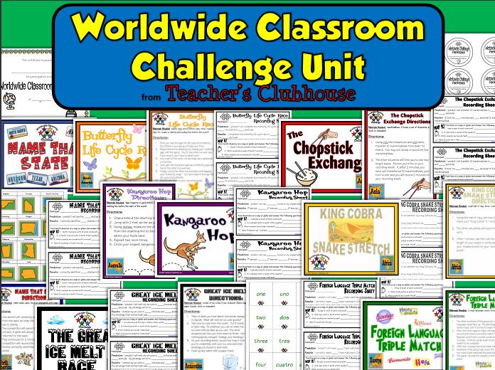 http://www.teacherspayteachers.com/Product/Worldwide-Classroom-Challenge-Unit-from-Teachers-Clubhouse-475880