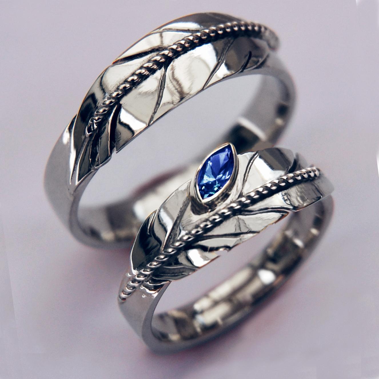 Nidebibinanimin Giizhig Midewiwin Eagle Feather Wedding Rings: Native American Wedding Ring Designs At Websimilar.org