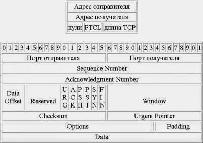 заголовок пакета TCP