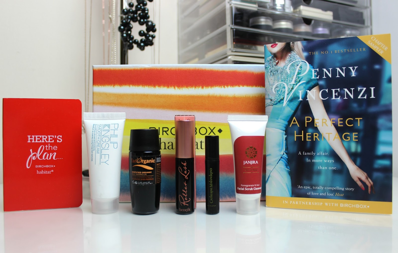 A picture of the products inside the Birchbox UK March 2015 Habitat Box