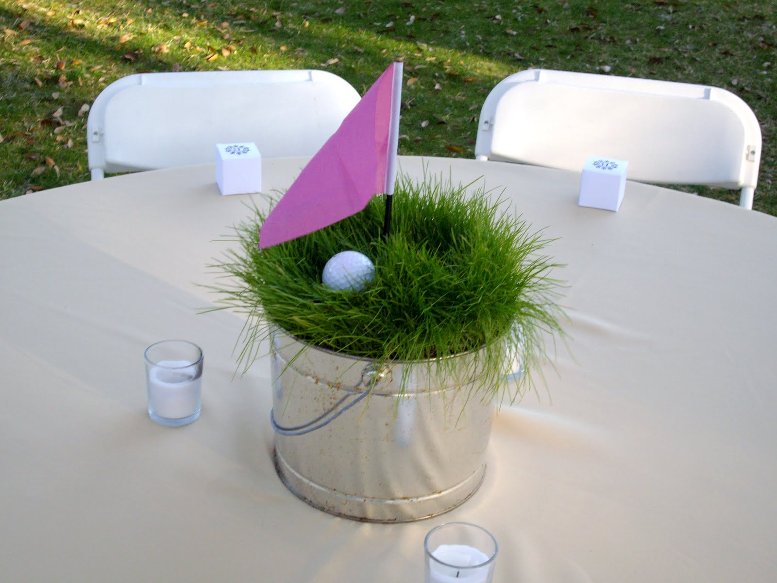 Golf Theme Table Centerpieces